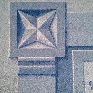 Corner post close up