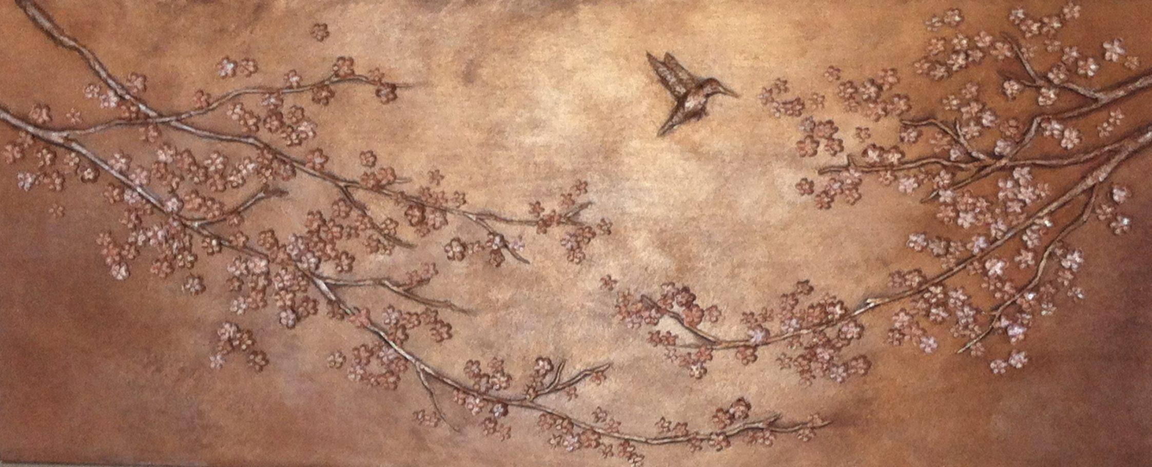 Cherry Blossom Bas Relief