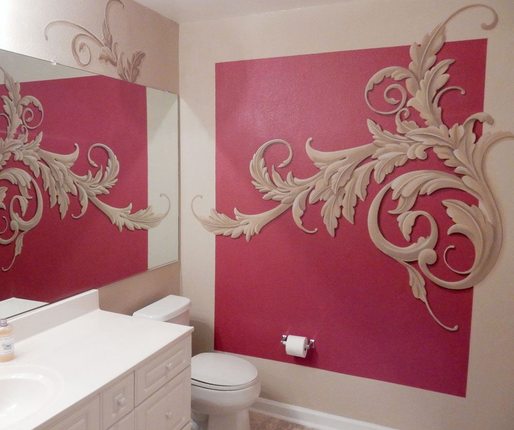 Acanthus inspired powder room