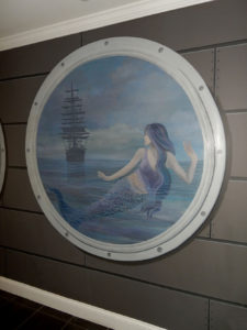 Closeup of Mermaid Porthole