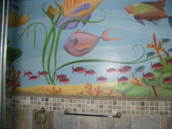 Fish on walls