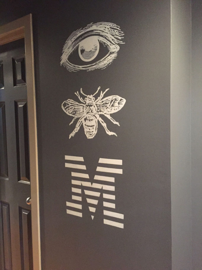 Whimsical IBM lettering
