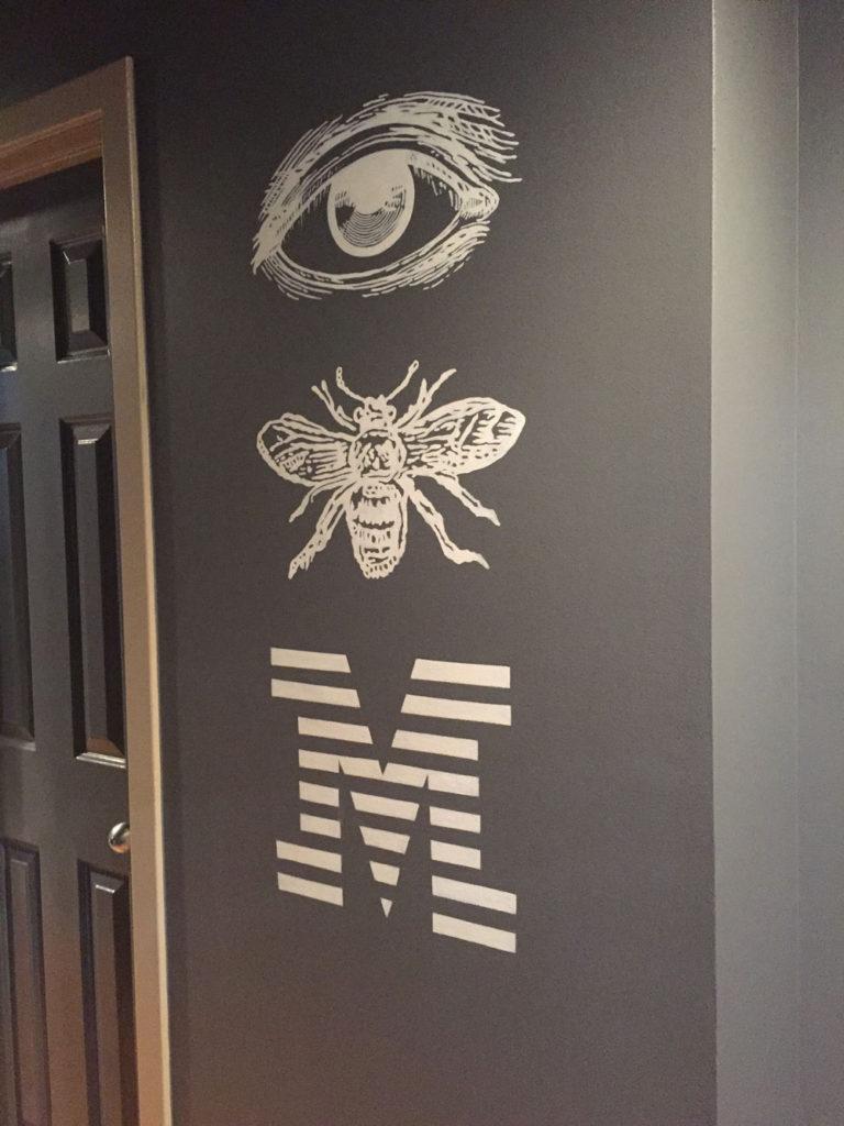 Whimsical IBM lettering