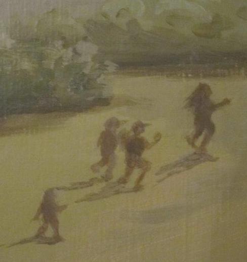 Children in mural