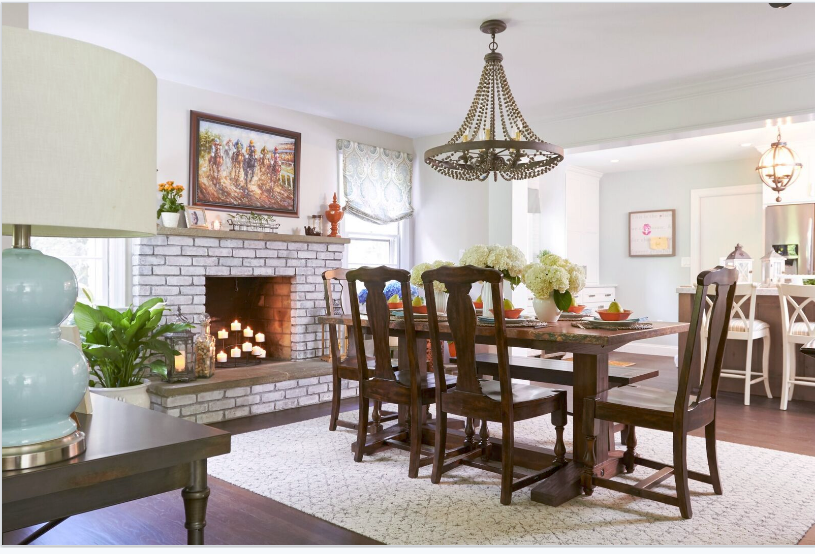 Property Brothers Whitewashed Fireplace