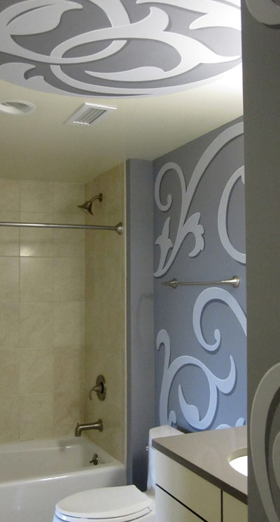 Ceiling and Tub