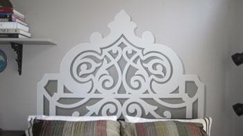 Painted headboard