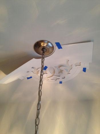 Quarter pattern on ceiling