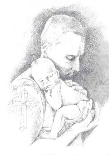 Father and son sketch