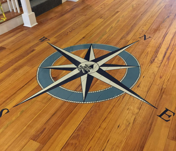 Finished Compass Rose