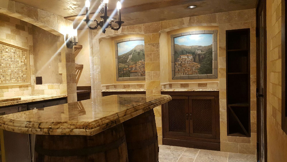 Wine Room Finished Picture