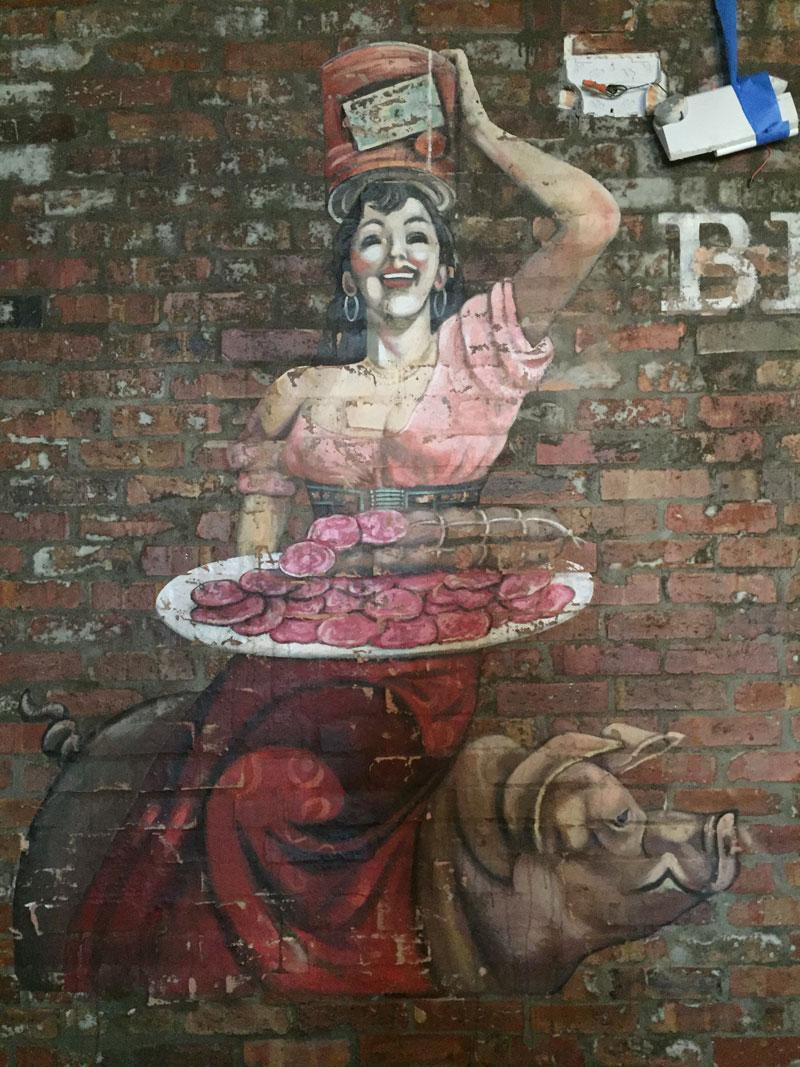 Lady on a pig