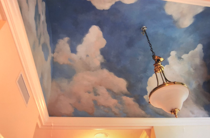 Ceiling painted by Sharon