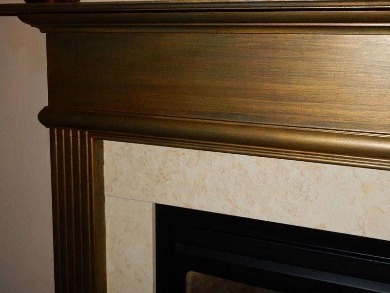 Fireplace detail work