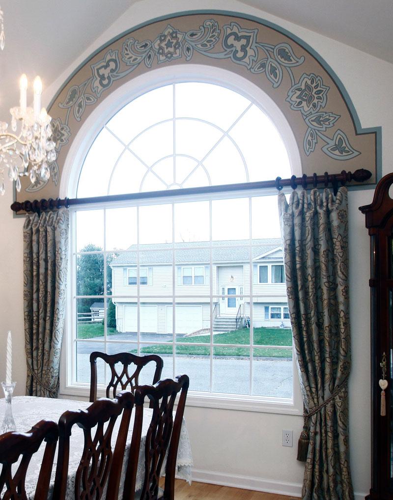 Window with paisley border