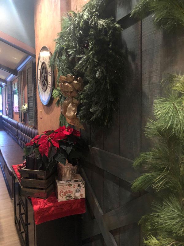 Barn door with decorations