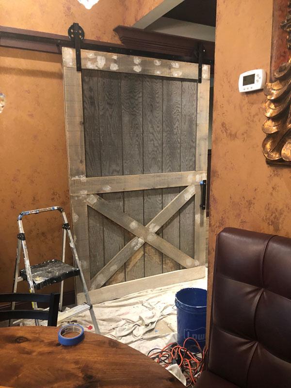 Barn door before