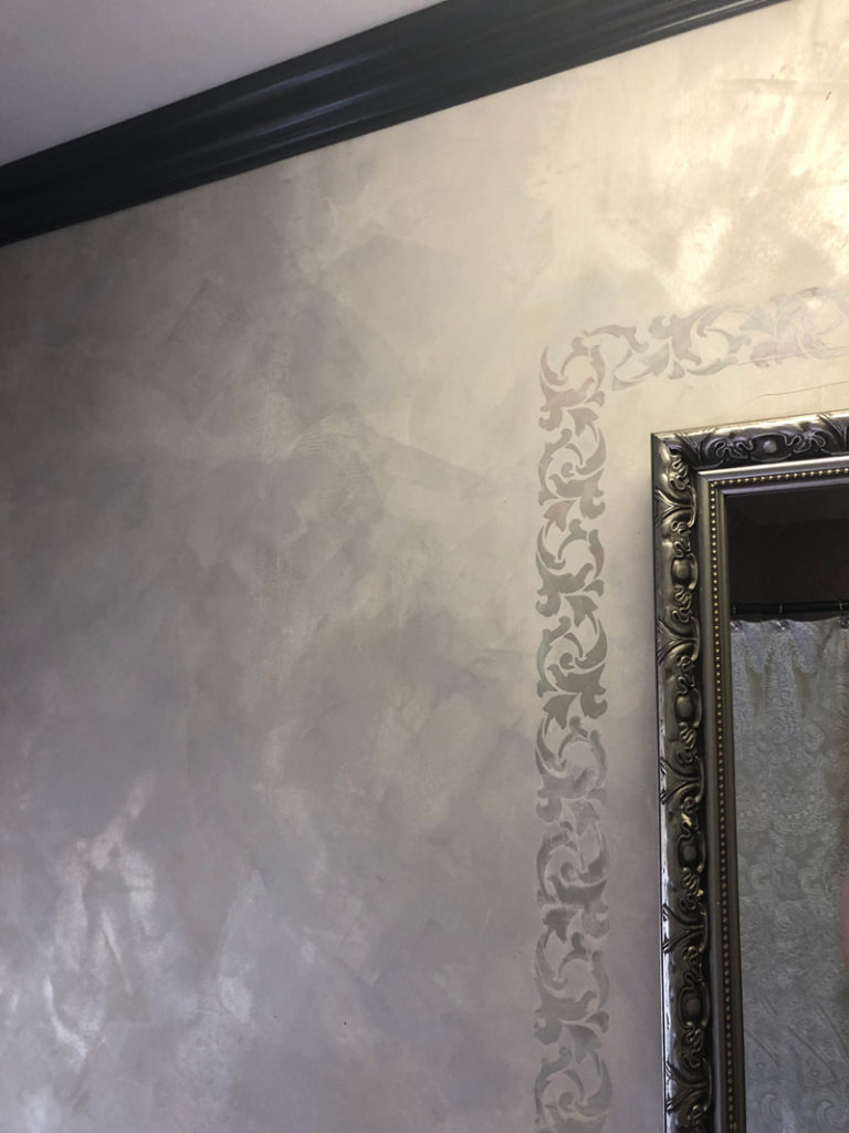 A different view of Sharon's bathroom with Lusterstone