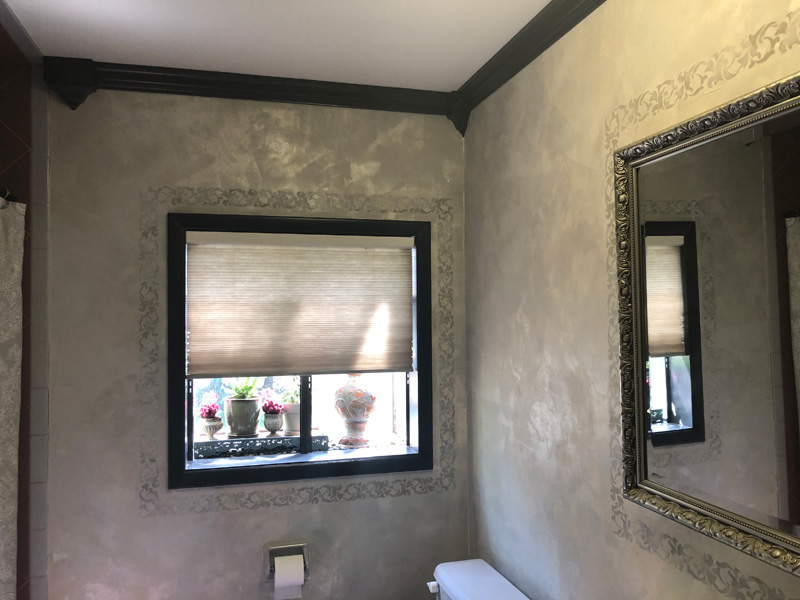 Sharon's bathroom with Lusterstone
