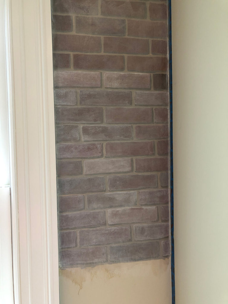 Whitewashing the brick