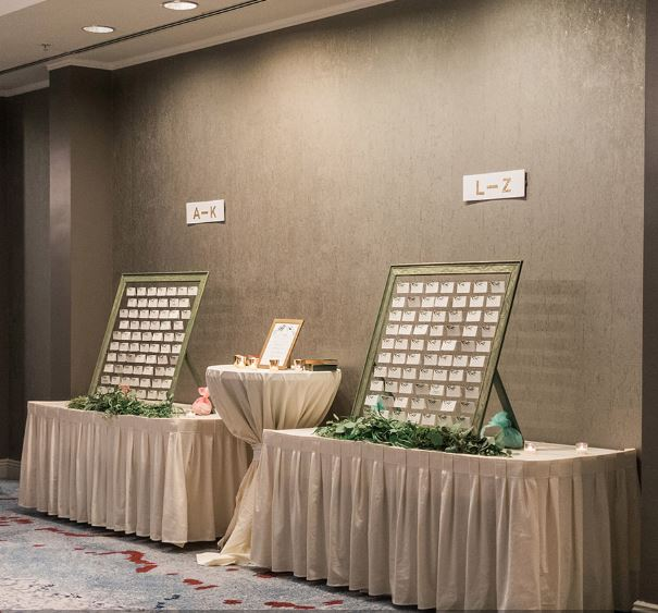 Placecard frames at reception