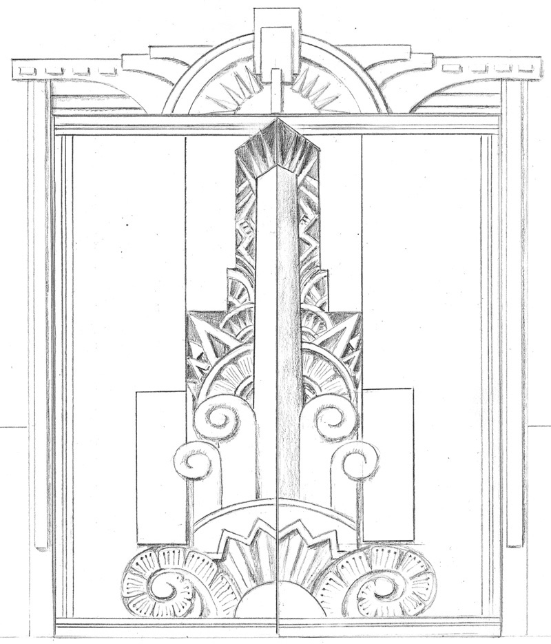 drawing of doors