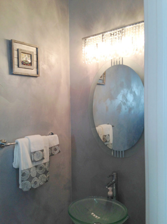 Moonglow powder room