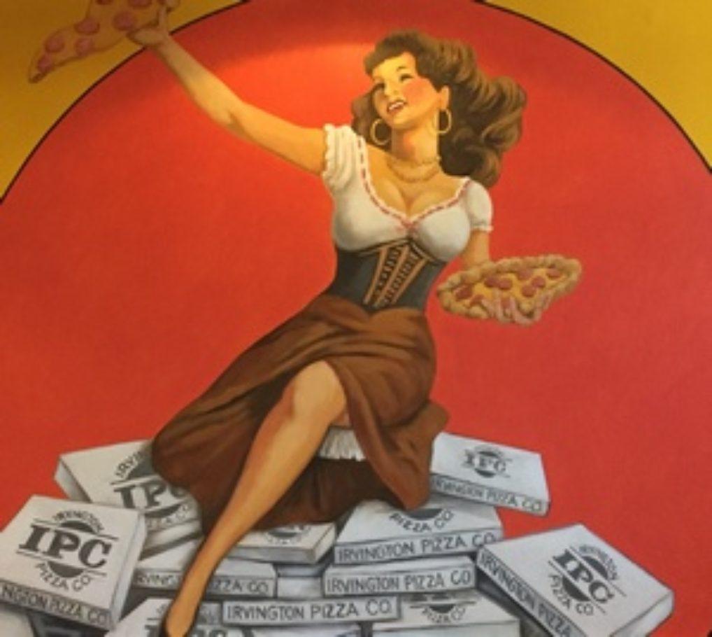 Mural in Irvington Restaurant