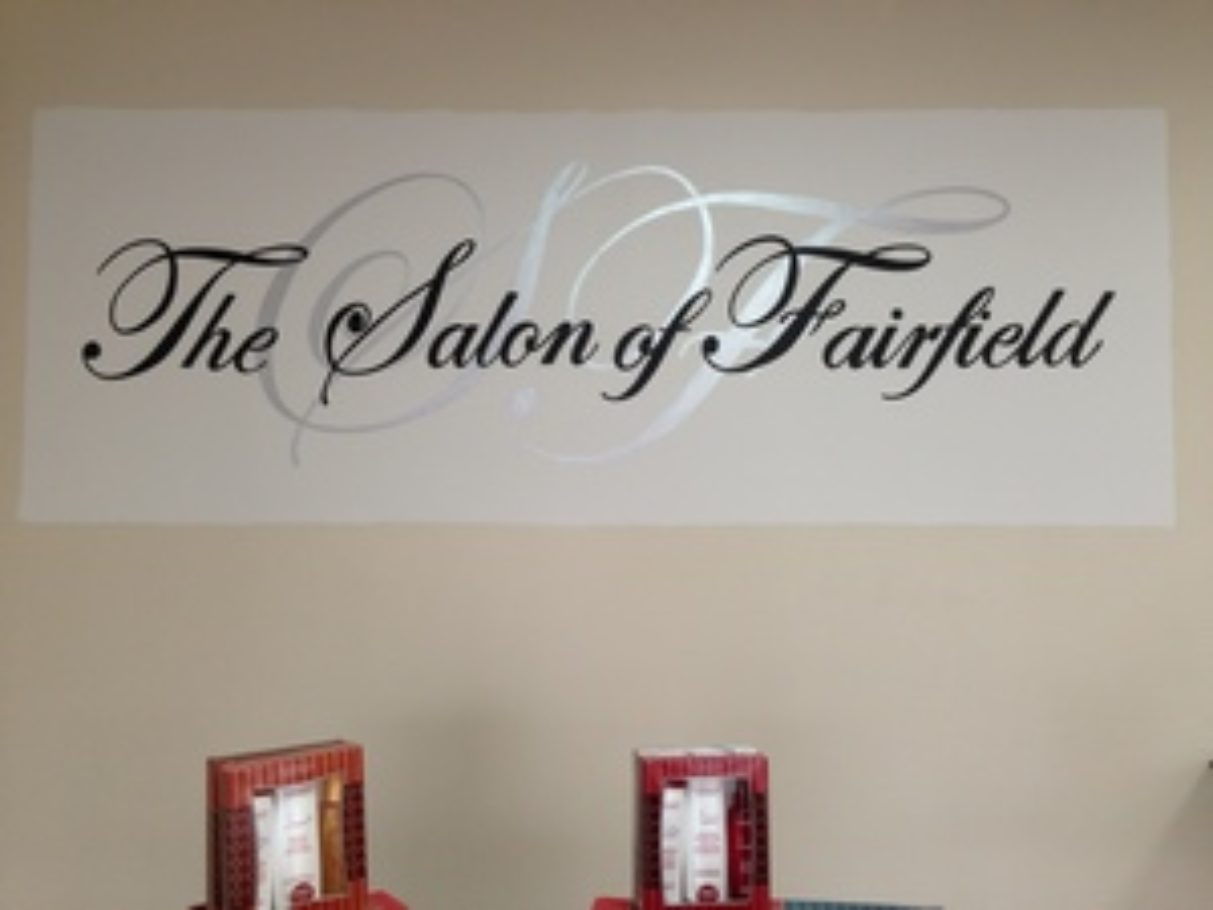 Lettering in a Salon