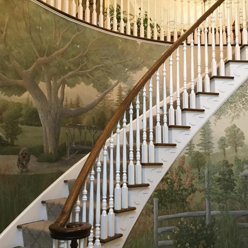 Full stairway mural