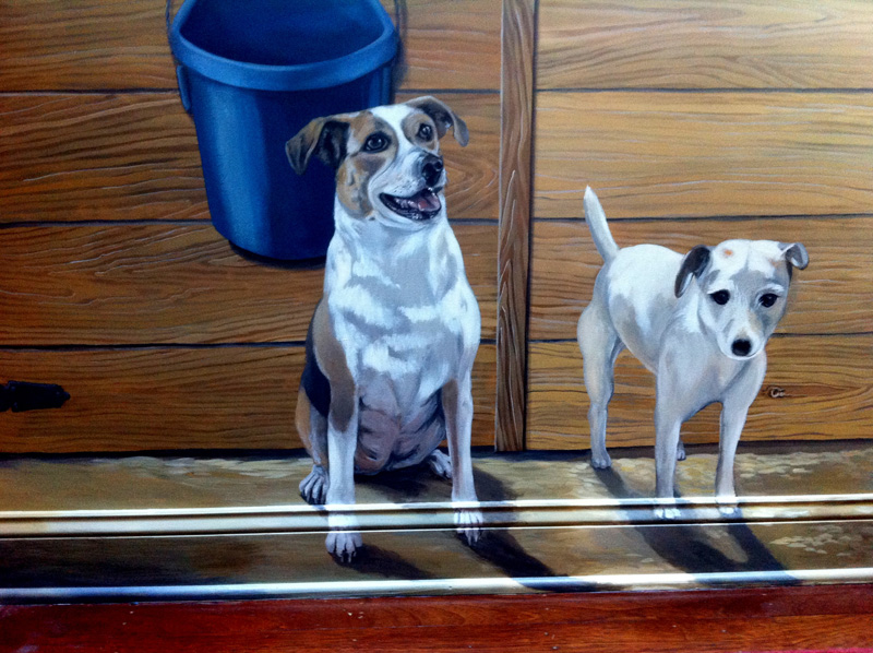 New rescue dog added to mural