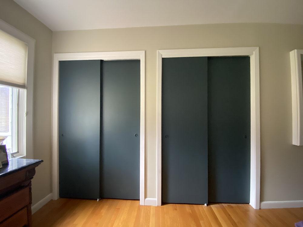 Closets with base coat