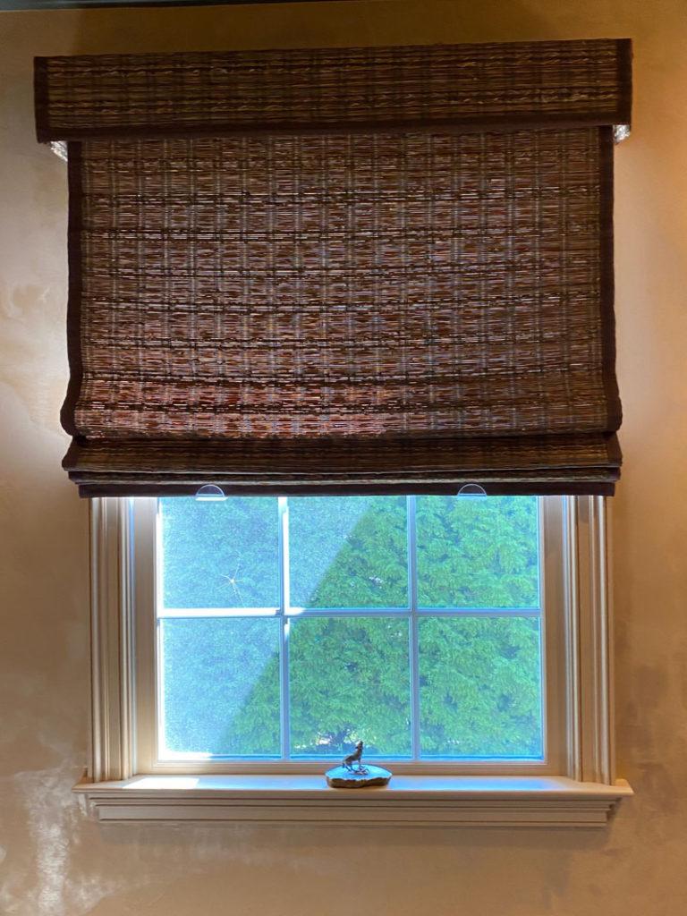 Woven grass window shade