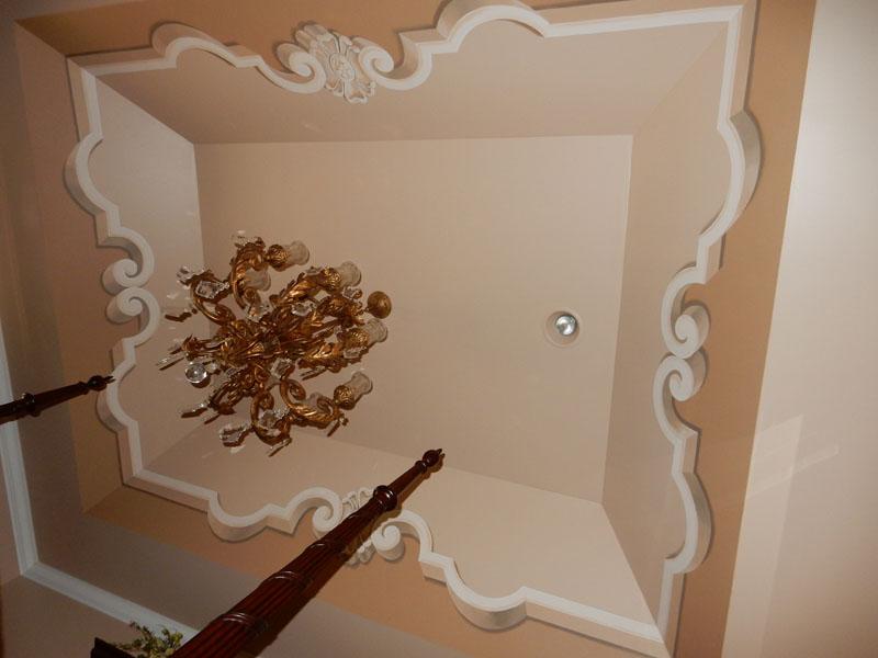 Fake molding ceiling