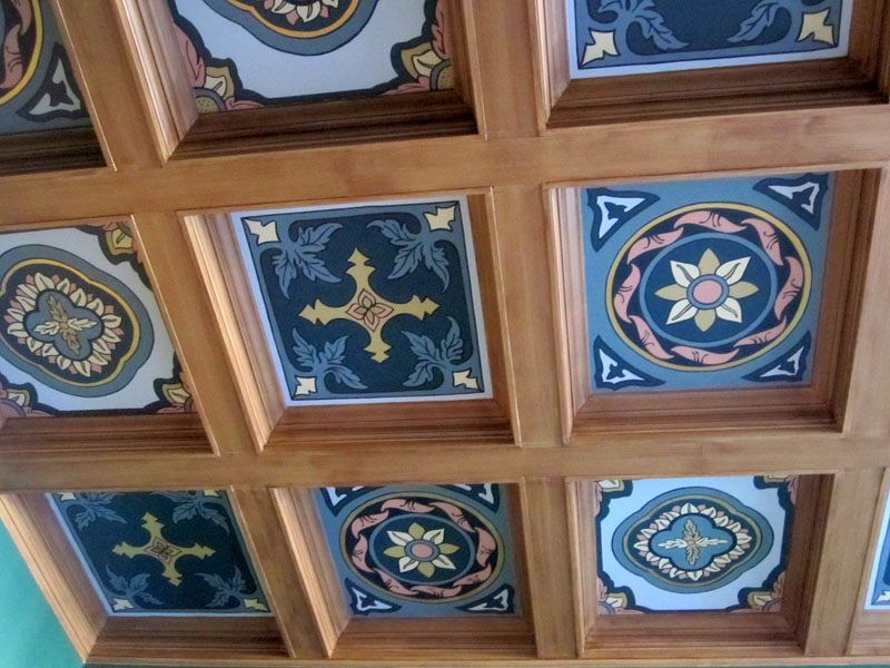 Victorian Coffered Ceiling