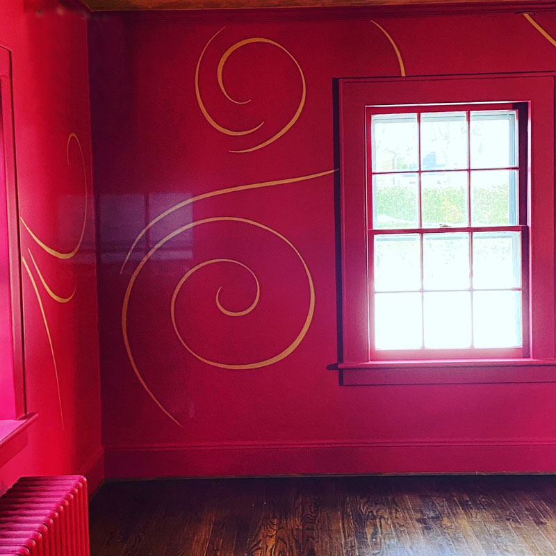 The swirls on the finished room