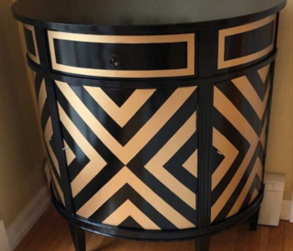 Art deco black and gold