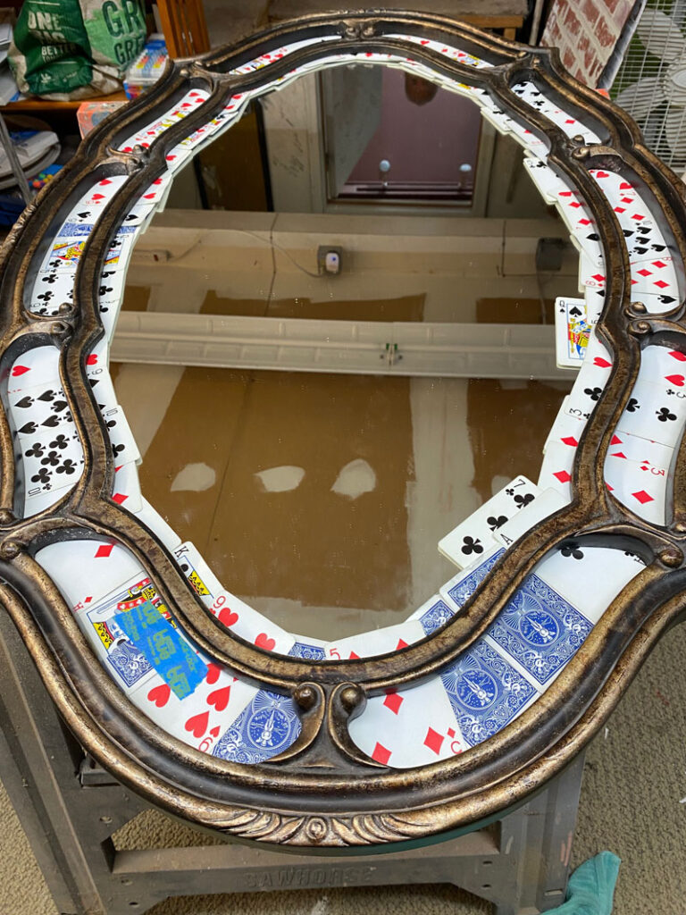 Mirror with cards